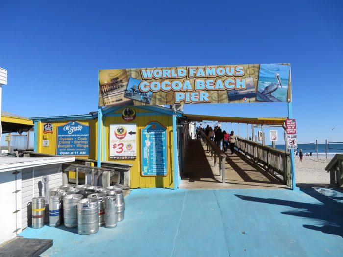 Cocoa Beach Pier Indian River Lagoon